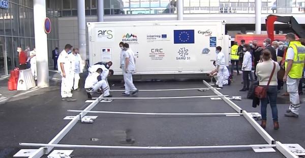 С подкрепата на ЕС - как работи първата мобилна болница в Европа